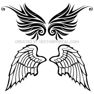 Wings Set Free Vector