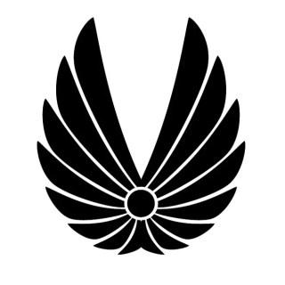 Wings Shape Free Vector