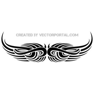 Wings Tribal Tattoo Free Vector