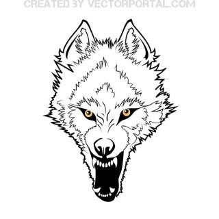 Wolf Predatory Grin Free Vector