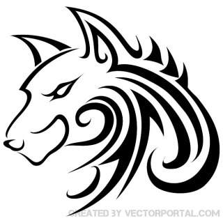 Wolf Tattoo 2 Free Vector