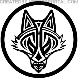 Wolf Tribal Style Free Vector