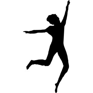 Woman Dancing Silhouette Free Vector