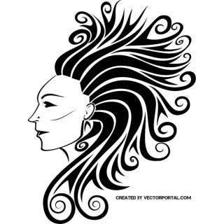 Woman Face Free Vector