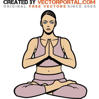 Woman in Yoga Pose Free Vector