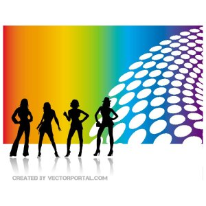 Women Silhouettes Abstract Free Vector