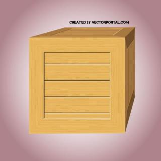 Wooden Box Clip Art Free Vector