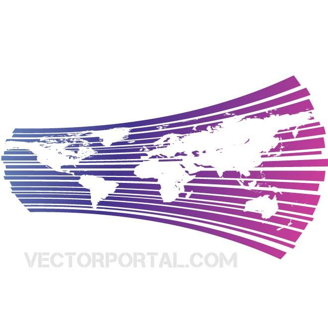 World Map Background Free Vector