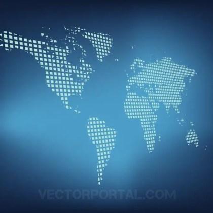 World Map Design Free Vector