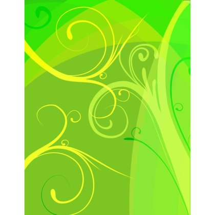 Yellow Green Floral Background Free Vector
