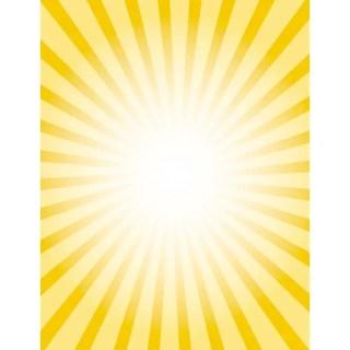Yellow Sunbeams Retro Burst Free Vector
