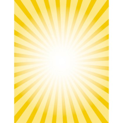 Yellow Sunbeams Retro Burst Free Vector