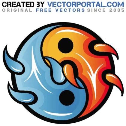 Yin and Yang Graphics Free Vector