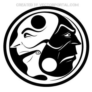 Yin Yang Free Vector