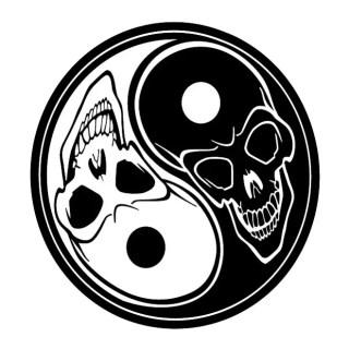 Ying Yang Skulls Free Vector