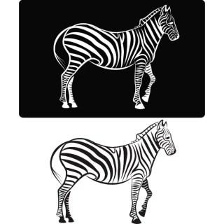 Zebra Clip Art Free Vector