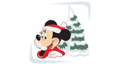 micky with x-mas tree
