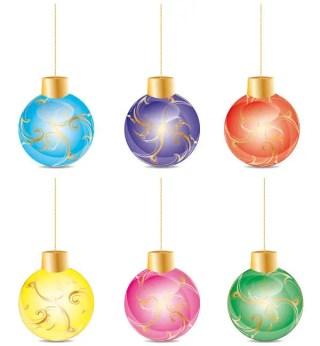 Christmas Balls Free Vector