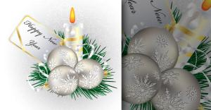 December Vector Christmas Greeting Card