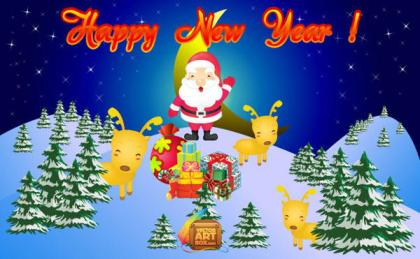 New Year Card free vector