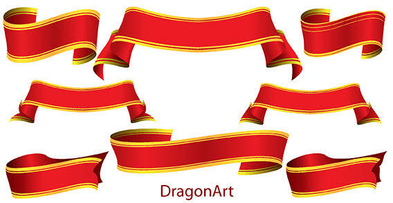 Red vector banners