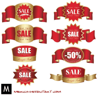 Red Labels free vector