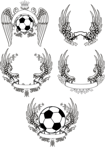 Scrolled Wings Designs