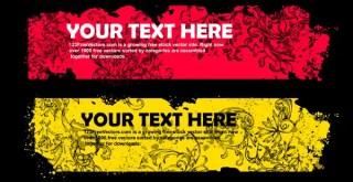 Grunge Floral Text Frame