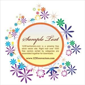 Floral text frame