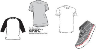 Sneakers and t-shirt template