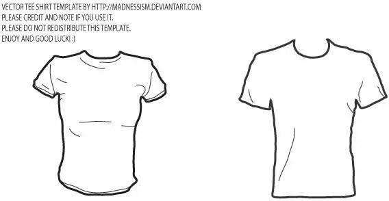 T-shirt Template of Men and Women