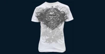 T-shirt design on back