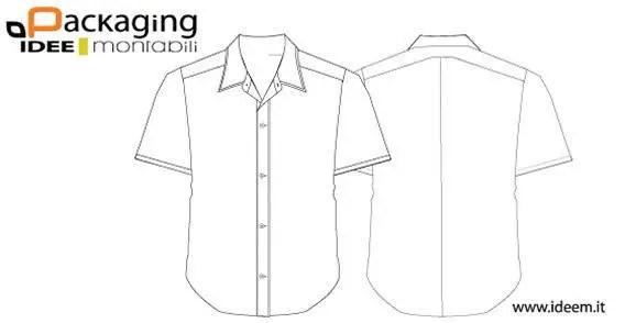 Shirt template with collar