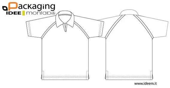 Collar T-shirt Template Vector