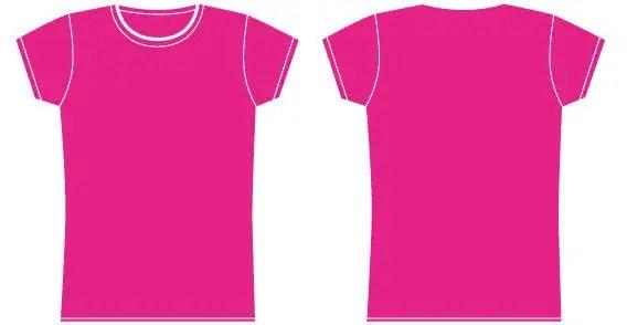 Girls t-shirt template