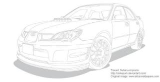 Outlined car vector