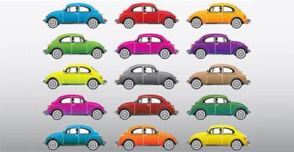 Color cars free vector