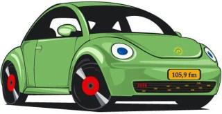 Old Green Car Vector