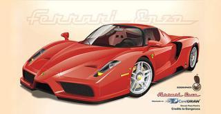Ferrari Car Vector