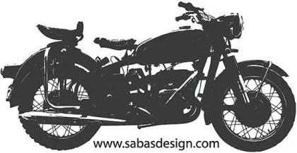 Vintage Motor Bike Vector