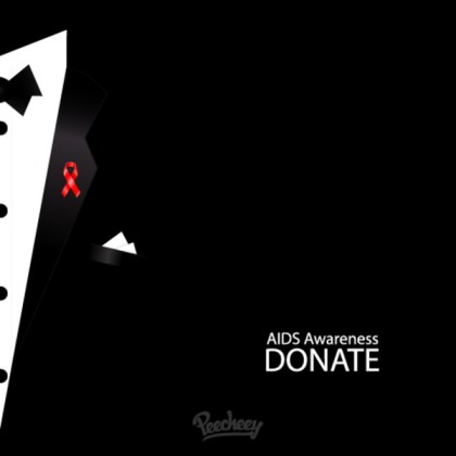 Aids Awareness Ribbon Free Vector