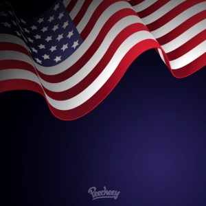 American Flag Illustration Free Vector