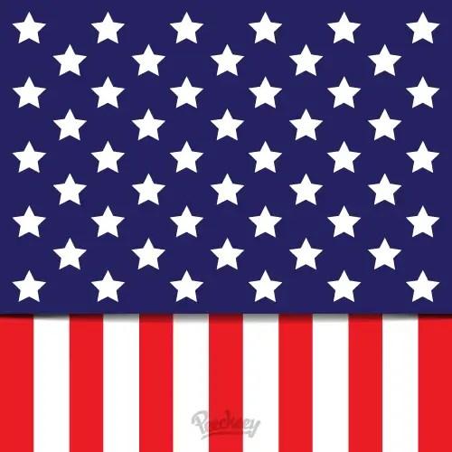 American Flag Illustration Free Vector