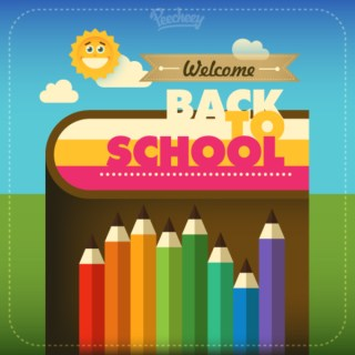 Back to School Colorful Illustration Free Vector