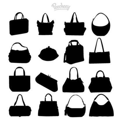 Bags Silhouettes Free Vector