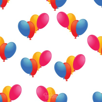 Balloons Seamless Background Free Vector