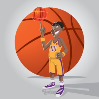 Basketball Player Illustration Free Vector