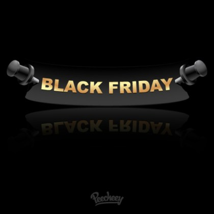 Black Friday Label Free Vector