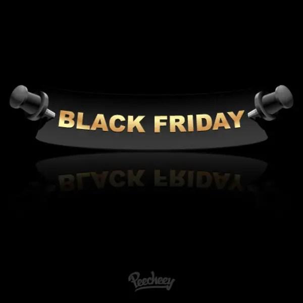 Black Friday Label Free Vector