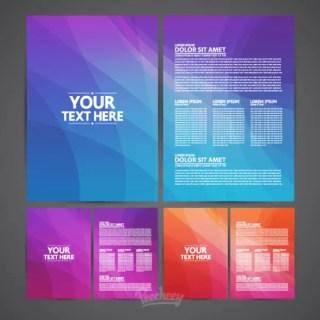 Brochures Template Free Vector